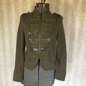 INC Military Inspired Embellished Jacket